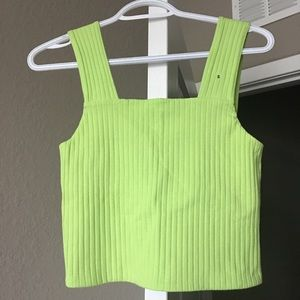 American Eagle Outfitters Tops - American Eagle Neon Green cropped top